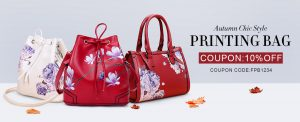 10%OFF autumn chic style printing bag
