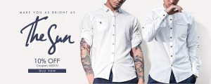 10% off for mens shirts only