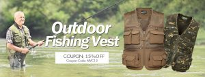 15%off for mens outdoor vest only