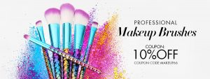 10% off for makeup brushes