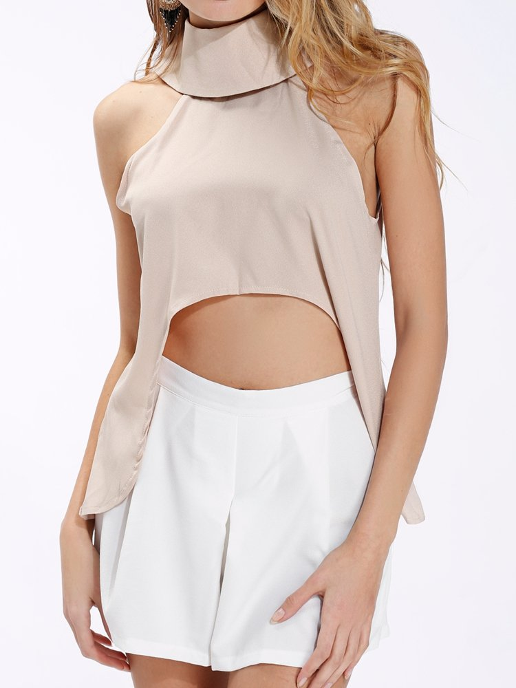 Sleeveless Women Crop Tops