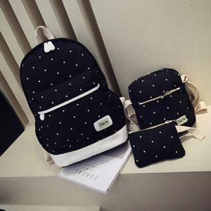 3PCS Canvas Backpack Set