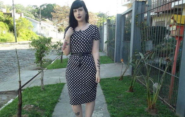 Midi Dress Polka Dots