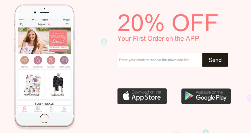 Check Here To Get 20% OFF First Newchic APP Order