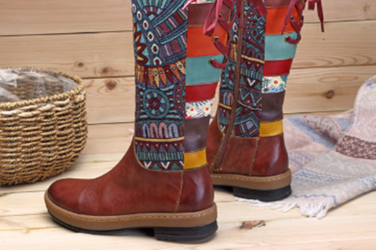 Socofy   Vintage & Comfy Handmade Women's Shoes