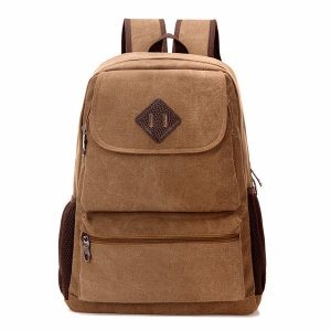Canvas Backpack Square Computer Bag