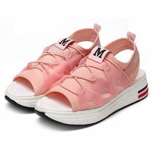 platform peep toe sandals