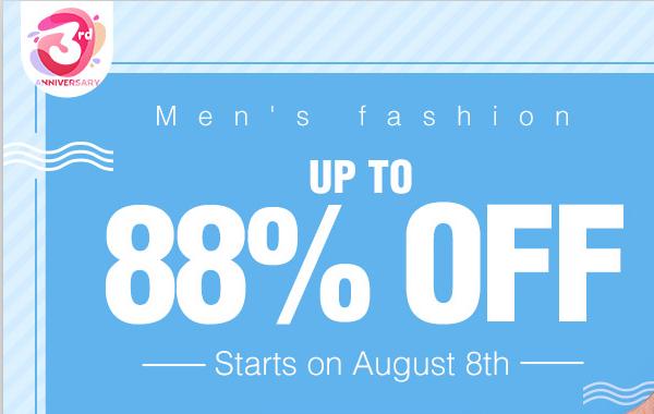 Super Promotion for Men's Fashion Begins!