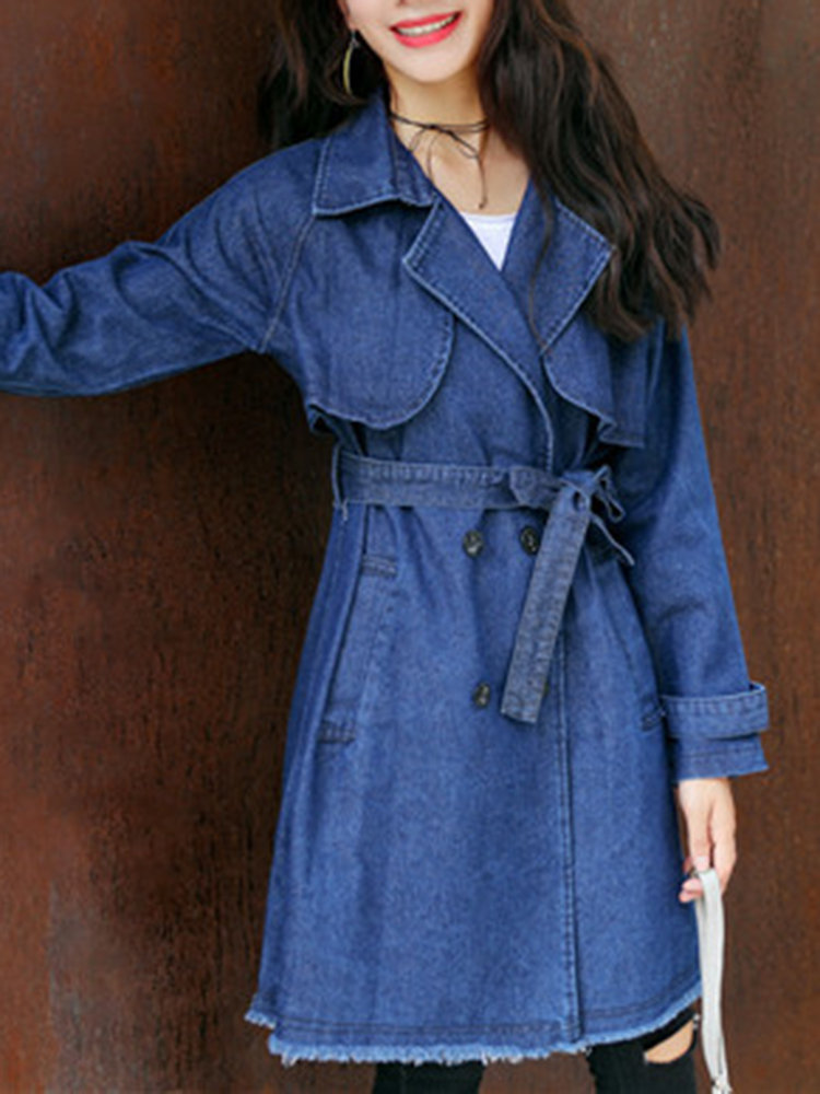 Newchic long women trench coat