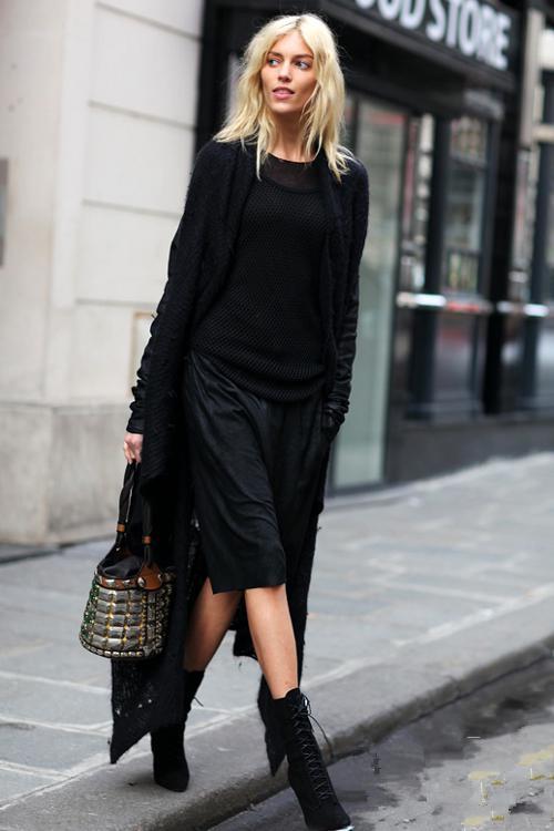 long black cardigans