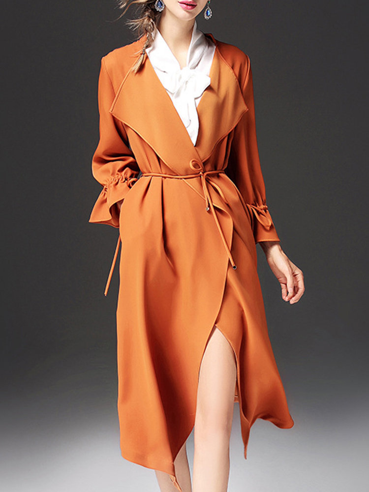 long trench coat dress