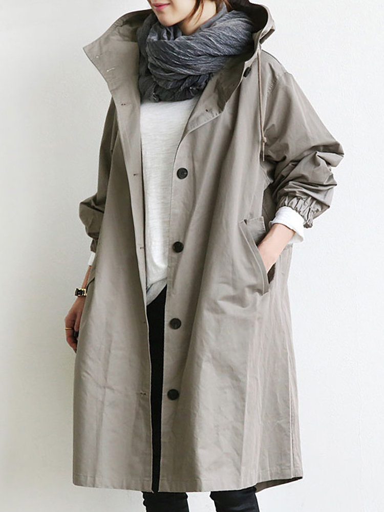 plus size women's trench coat