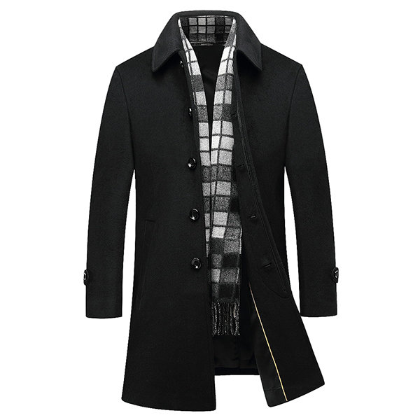 Newchic long wool pea coat