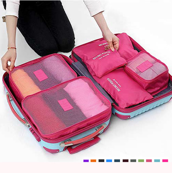 6pcs Waterproof Cube Travel Storage Bags Clothes Pouch Nylon Luggage Organizer Bag Is Fashion Newchic