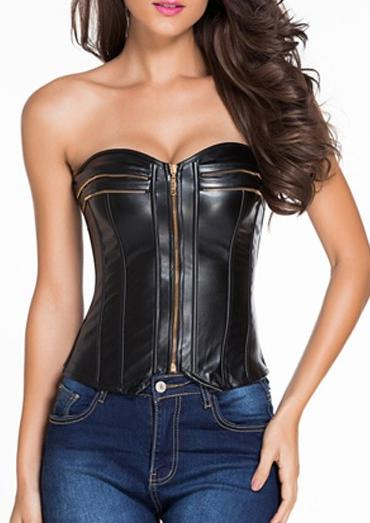Find and save ideas about Leather bustier on Pinterest. | See more ideas about Faux leather dress, J lopez and Idol.