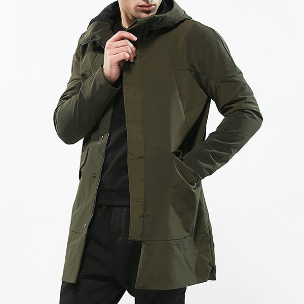 trench coat with hood Newchic