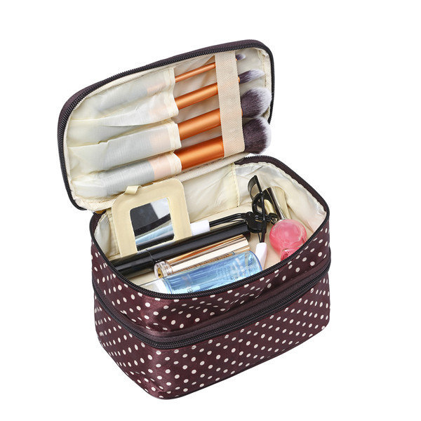 Double layers large makeup bag