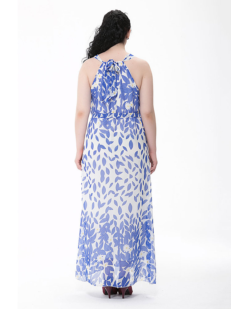 Newchic backless maxi dress