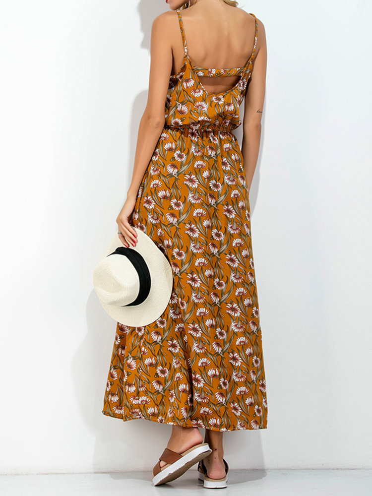 Newchic casual backless maxi dress