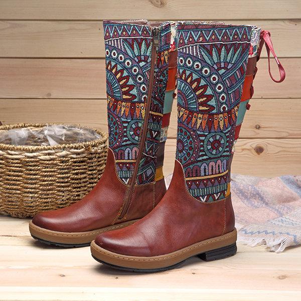 Socofy knee boots