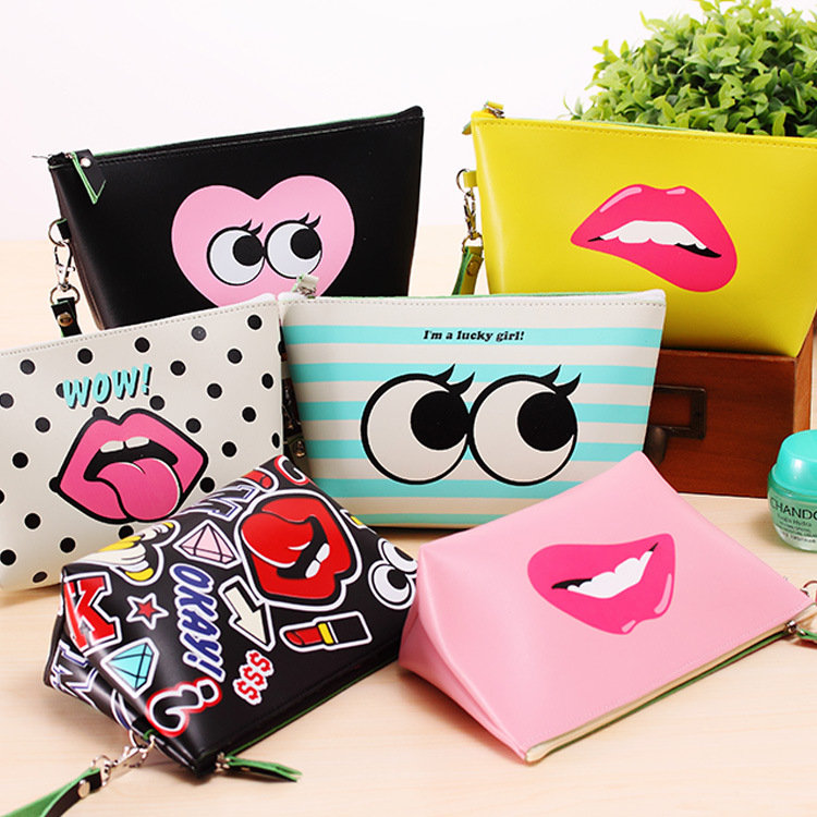 cartoon makeup bags