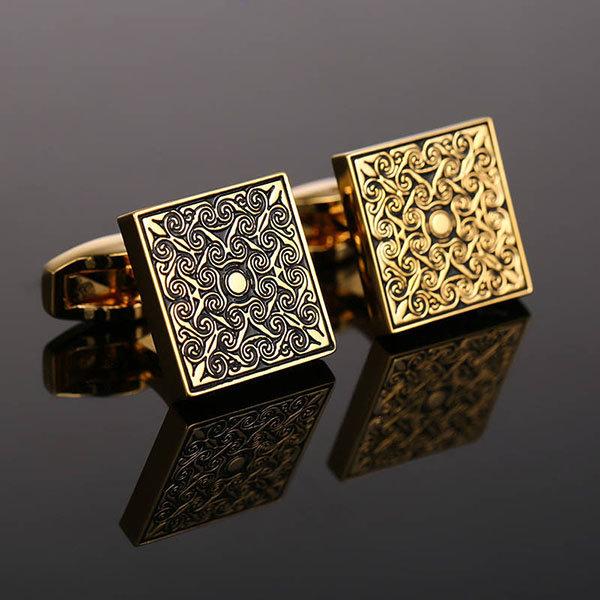 copper cufflinks