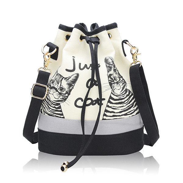 cute canvas drawstring bag