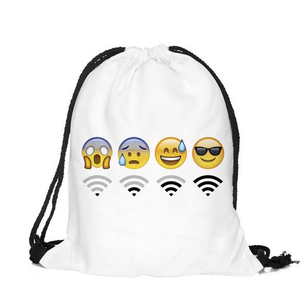 emoji drawstring bags