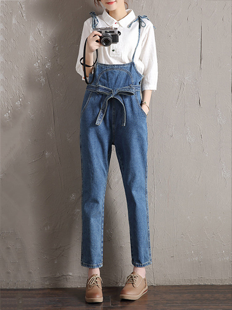 stylish denim jumpsuit