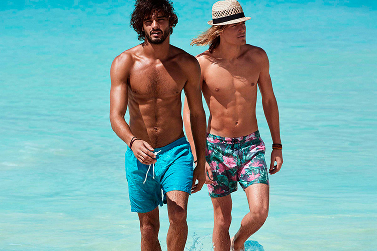 AS-Wall Mens Colorful Gradient Leaves Beach Shorts Surf Board Quick-Drying Swim Trunks
