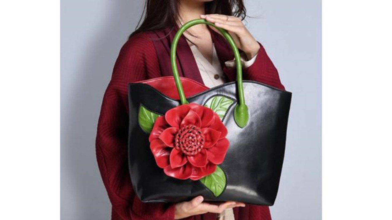 for Womens Beautiful Peacock Artwork Leather Handbag Tote Bag Purse Creative