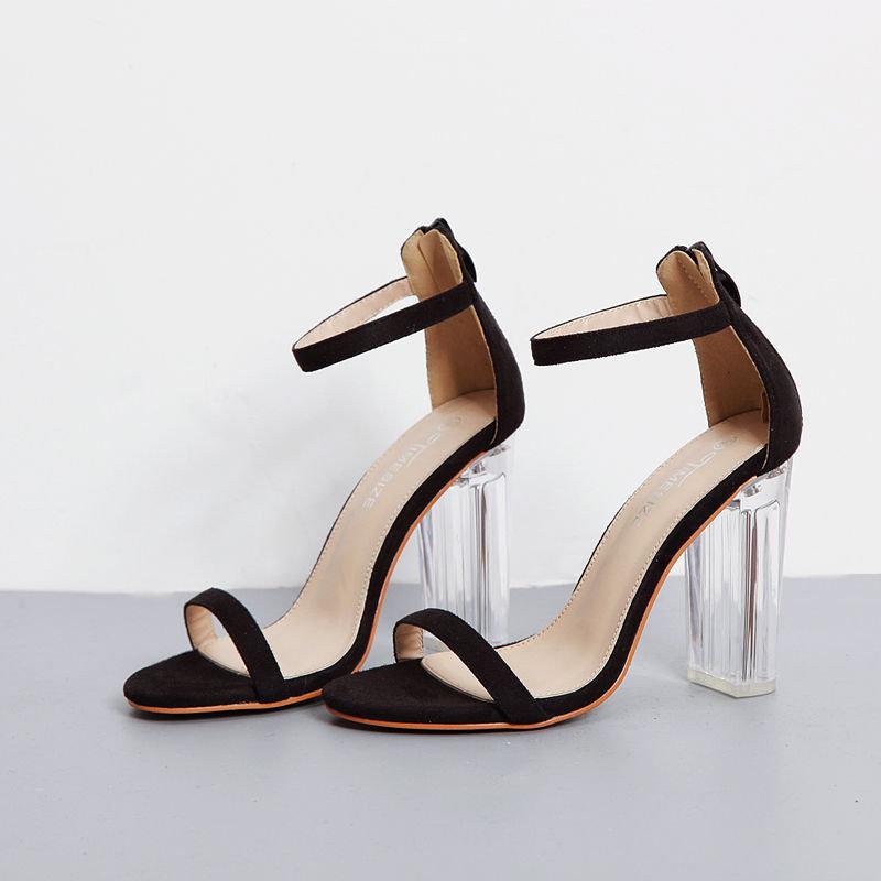 Newchic black strappy heels