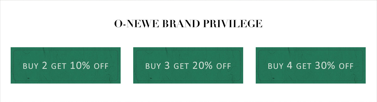 O-newe brand discount