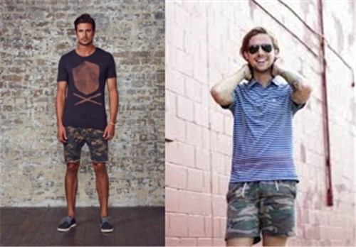 What to Wear With Mens Camo Shorts 1