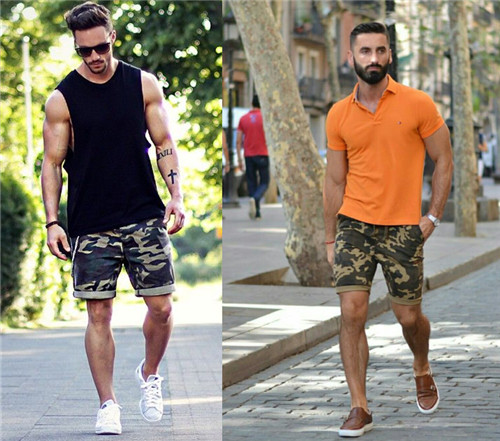 What to Wear With Mens Camo Shorts 2