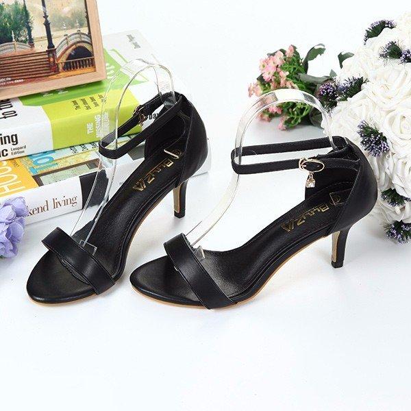 black strappy heels Newchic