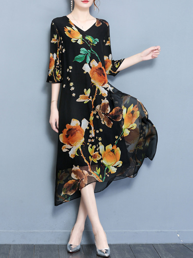 floral O-newe dresses