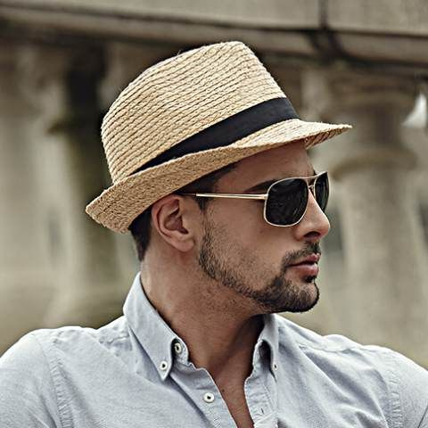 men wear summer straw hat