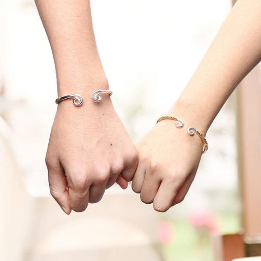 couple silver bracelets