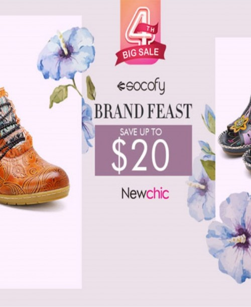 Five Must-have Socofy Shoes in Newchic 4th Anniversary Celebration 2018