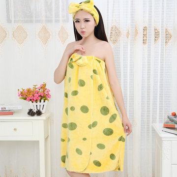 Sexy Off Shoulder Flannel Bathrobe Comfy Breathable Keep Warm Nightdress For Women