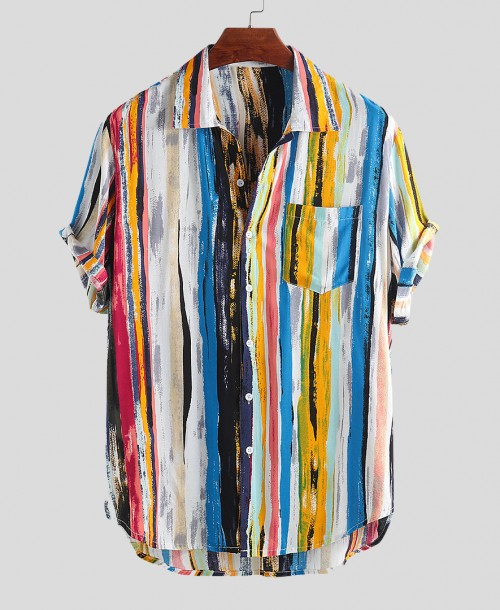 Multi Color Graffiti Hawaiian Shirts $16.99
