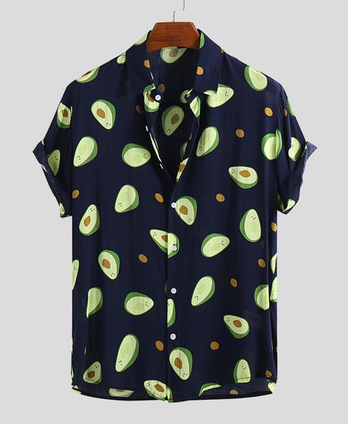 Funny Avocado Printed Hawaiian Shirts