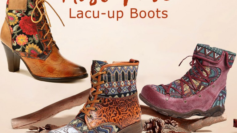 4 Must-have SOCOFY Lace-up Boots