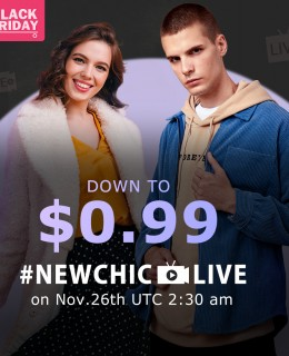 Newchic Live Stream 2020 Black Friday