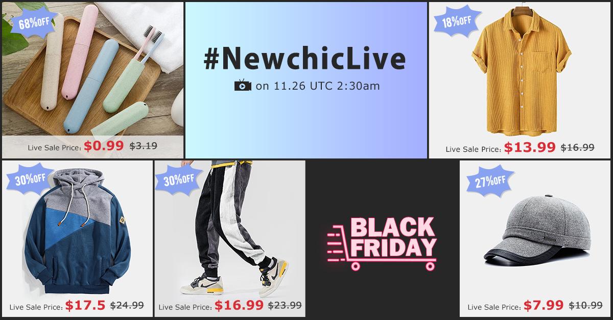 Newchic Live Stream 2020 Flash Deals