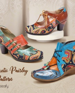 SOCOFY Paisley Shoes