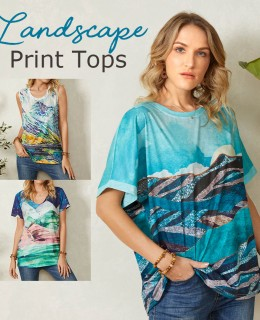 Newchic Landscape Print Outfits